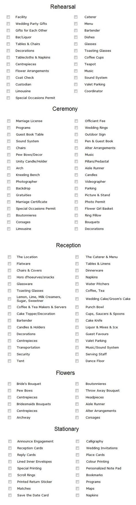 Wedding Checklist Everything You Need by Top 5 Wedding Planning Checklists To Keep You On Track
