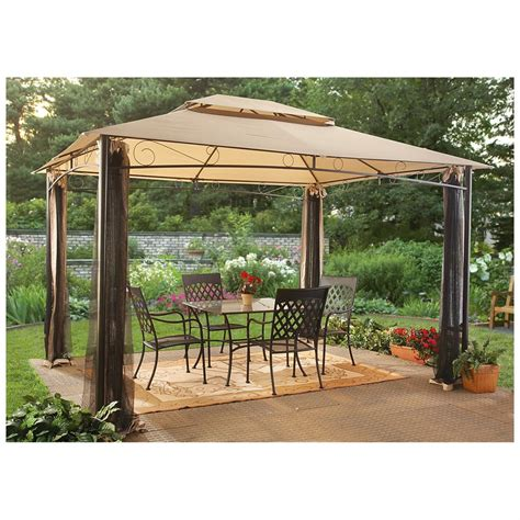 portable awning for patio castlecreek 10 x 12 classic garden gazebo 232387