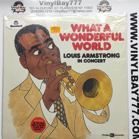 louis armstrong what a wonderful sealed 12 lp louis armstrong what a wonderful world 1988