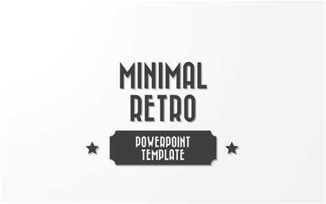 minimal retro powerpoint template by melonadestudios minimal retro powerpoint template by melonadestudios