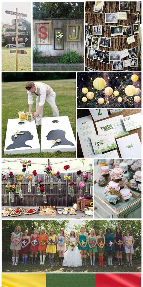 Backyard Wedding Colors Backyard Wedding Inspiration Board By The Simplifiers