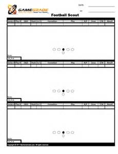 scout templates football scout sheets