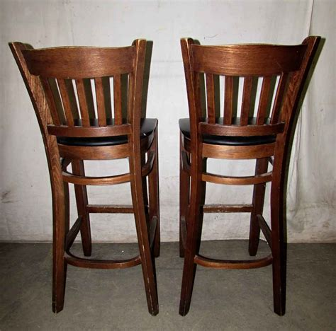 Wooden Bar Stool With Back Wooden Bar Stools With Slatted Backs Olde Things