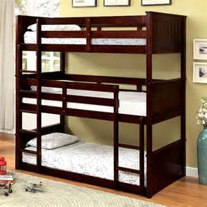 therese espresso bunk bed 3 beds in 1