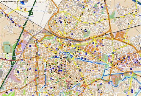 padua map city maps padua