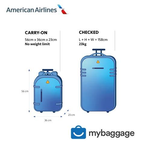 American Airlines Cabin Baggage Weight Limit by American Airlines 2019 Baggage Allowance My Baggage