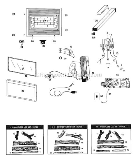 majestic dvr33 parts list and diagram ereplacementparts