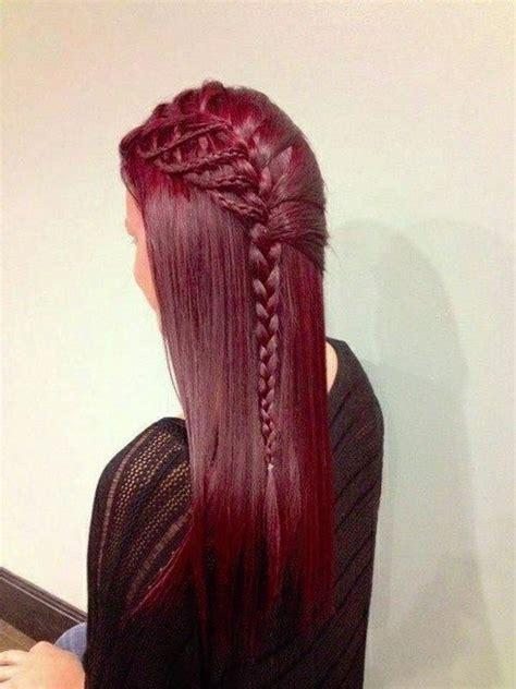 54 best hair tricks images on pinterest braids hair cut burgundy side braid hairstyles and beauty tips