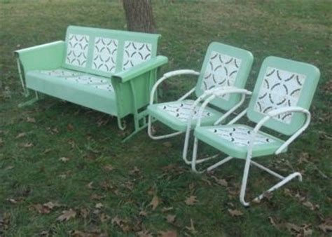 vintage metal glider bench vintage metal porch glider set rocking bounce chairs