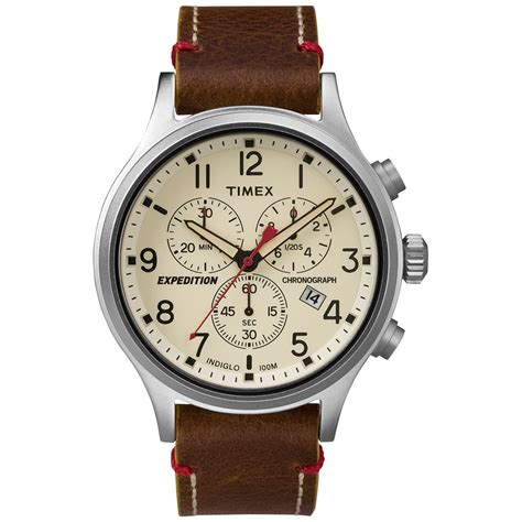 timex expedition scout chronograph brown