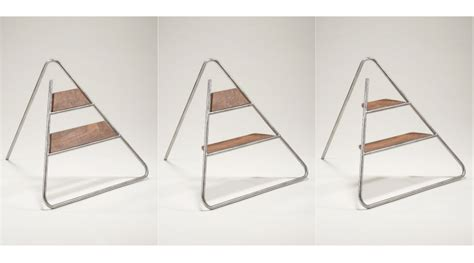 Wall Mounted Step Stool by Triangle Step Ladder An Aesthetically Pleasing Step Stool
