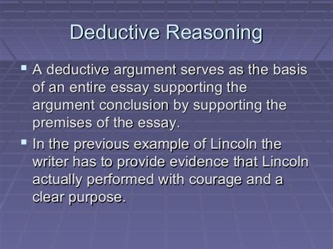 Deductive Reasoning Essay by Deductive Reasoning Essay Structure Docoments Ojazlink