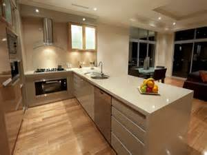 modern island kitchen design using floorboards kitchen photo 340642