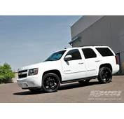 Chevy Tahoe White With Black Rims