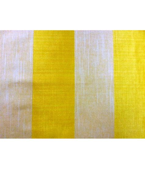 yellow curtain fabric rainbow yellow stripe polycotton curtain fabric 1 meter
