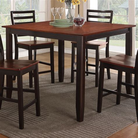 counter height accent table bobkona counter height table in cherry espresso finish