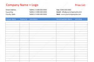 Price Comparison Template by Doc 600730 Vendor List Template Vendor List Template 8