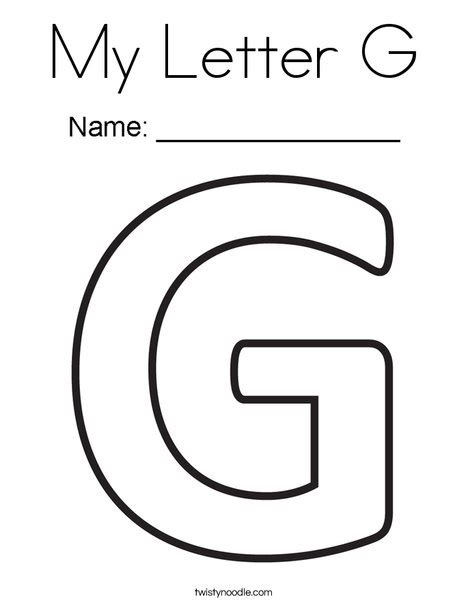 coloring pages of letter g my letter g coloring page twisty noodle