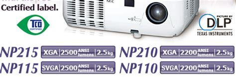 Proyektor Nec Np115 nec projector np215 np210 np115 np110 projector lineup nec display solutions