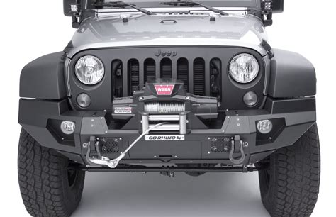 Jeep Bumper End Caps Go Rhino 230120t Front Bumper With End Caps For 07 17