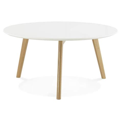 table basse bois clair tarot scandinavian coffee table in wood and oak white