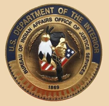 interior bureau of indian affairs bureau of indian affairs office of justice services wall