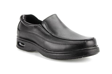 mens black restaurant lightweight work shoes non slip