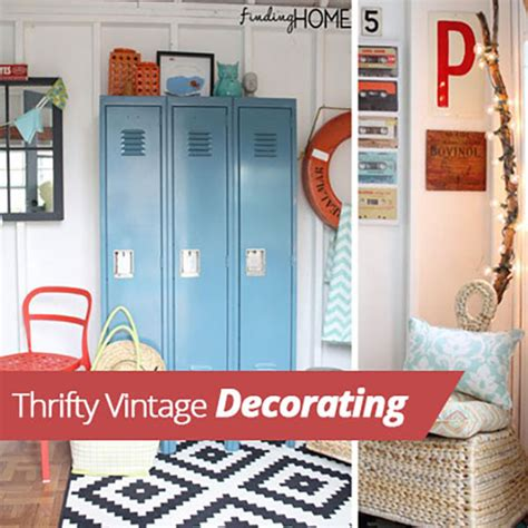 thrifty vintage decorating homes