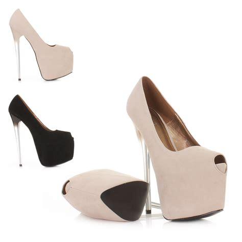 high perspex heel platform womens court