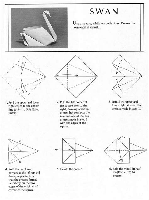 Origami Swan Pdf - origami how to make an origami swan steps origami swan