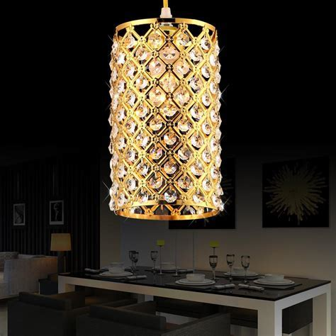 Modern Gold Silver Crystal Pendant Light Fixture For