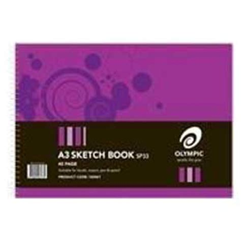 quill a3 sketchbook olympic a3 spiral sketch book 40 page coast to coast