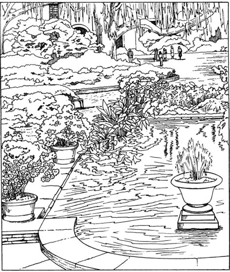 coloring pages for adults garden pleasant view of some attractive gardens 17 gardens
