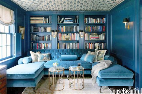 Blue Room by Turquoise Sectional Living Room Farrow Hague Blue House Beautiful