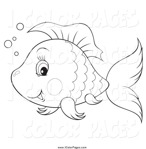 free coloring pages of cute fish