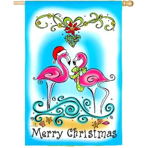 Evergreen Furniture by Merry Christmas Flamingo Flag