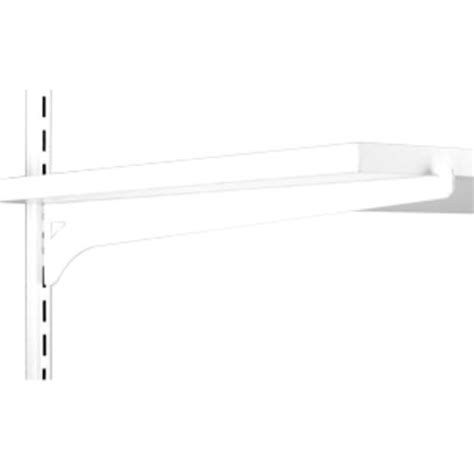 White Wooden Shelf Brackets 16 Quot White Single Track Wood Shelf Bracket At Menards 174