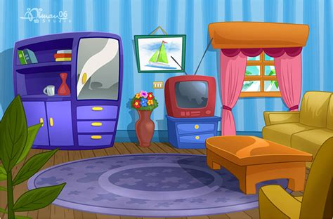 livingroom cartoon cmbg living room 1 by aimanstudio on deviantart