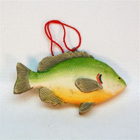 fish christmas ornament fishing theme
