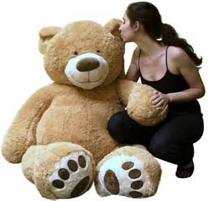 amazon com big plush giant teddy bear five feet tall tan