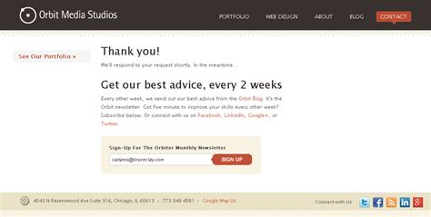thank you page template 4 thank you page exles that got it right cro tips for