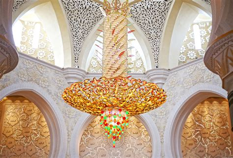 Sheikh Zayed Grand Mosque The Most Magnificent Mosques In Sheikh Zayed Mosque Chandelier