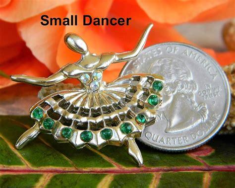 Ballet Rhinestone Brooch vintage ballerina ballet dancers brooch pin rhinestones