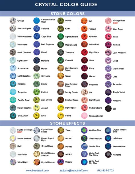 swarovski colors swarovski color chart