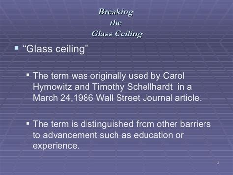 What Is Meant By The Term Glass Ceiling by The Glass Ceiling