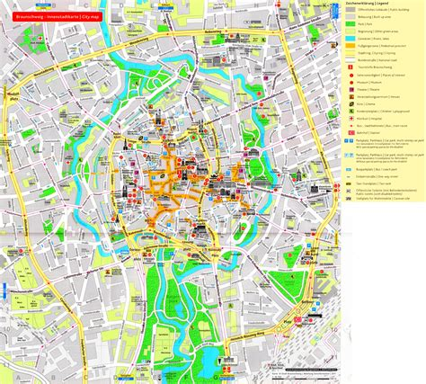 tourist map germany braunschweig tourist map