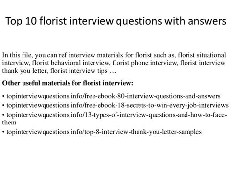 Popular Or Question Top 10 Florist Questions With Answers