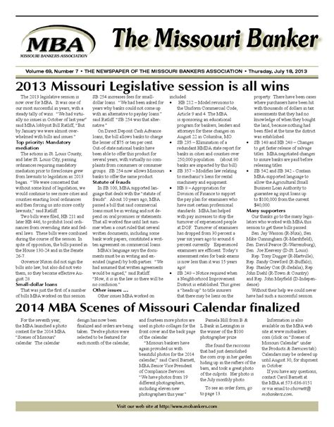 Mba Missouri Bankers Association by July182013web By Missouri Bankers Association Issuu