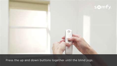 How To Program Somfy Blinds somfy rts electric roller blinds programming single
