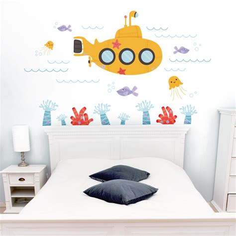 the sea wall stickers submarine the sea underwater printed wall